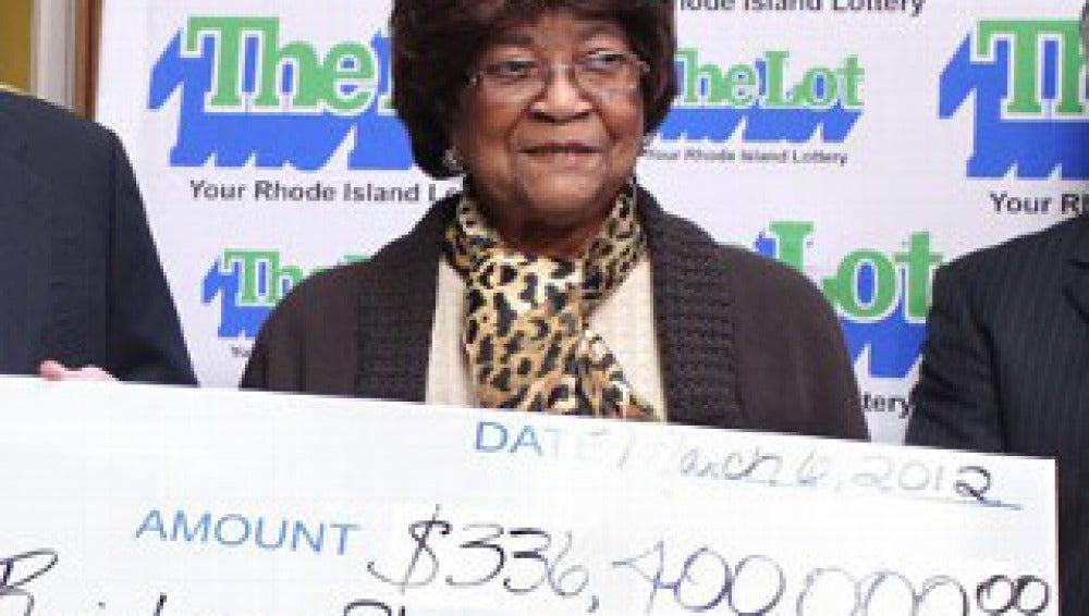 Louise White, ganadora de la lotería