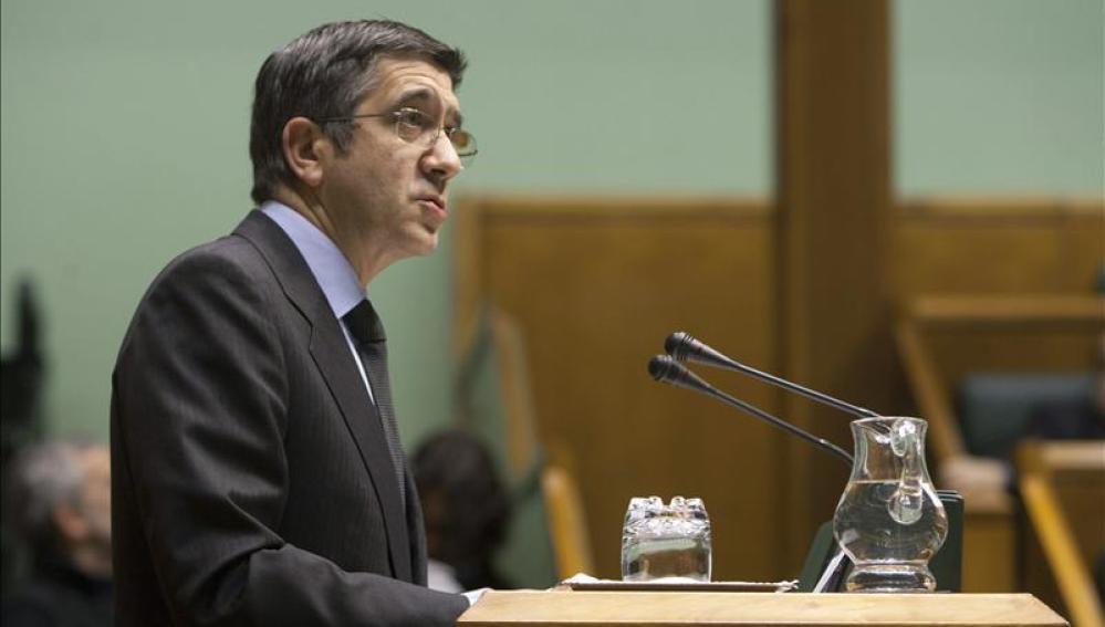 El lehendakari, Patxi López, en el Parlamento vasco