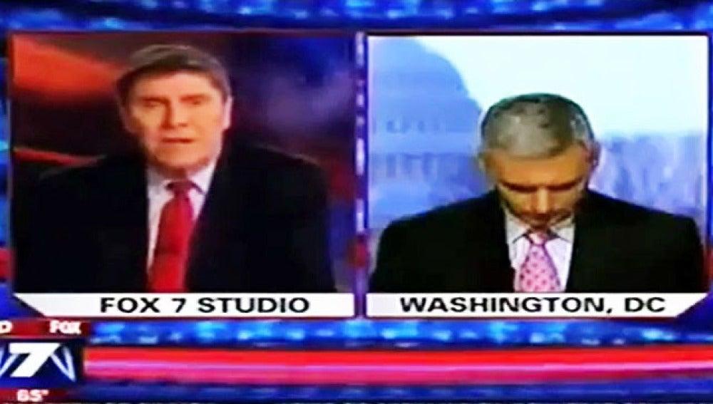 Un periodista de Fox News se queda dormido durante una conexión en directo