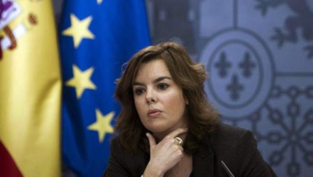 Soraya Sáenz de Santamaría, portavoz del Gobierno