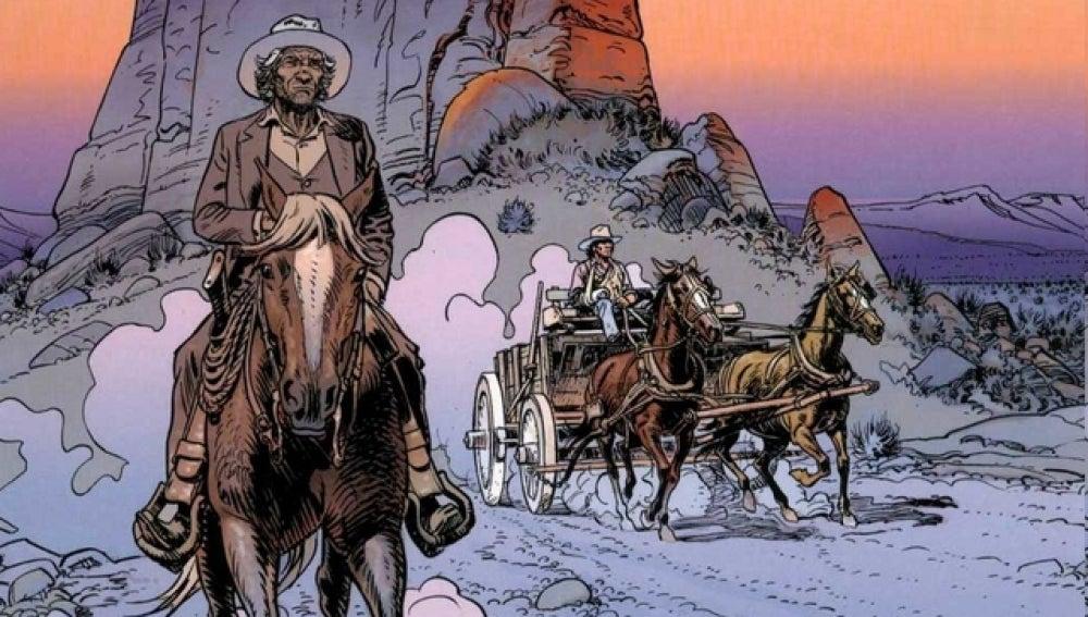 El teniente Bluerrey, uno de los personajes de 'Moebius'.