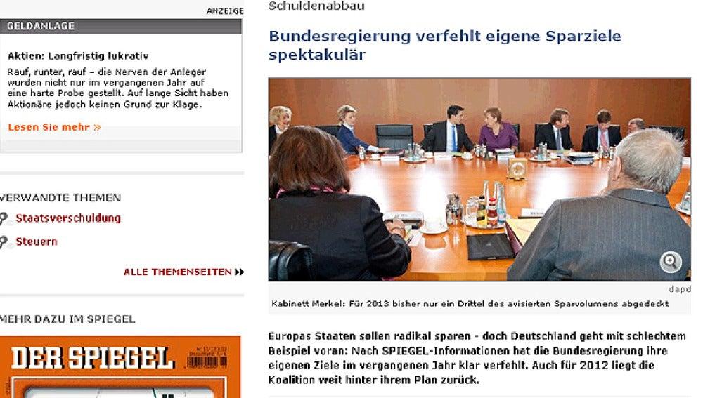 Publicación en el diario 'Der Spiegel'
