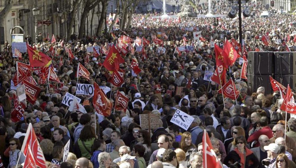 Manifestaciones en Madrid contra la refoma