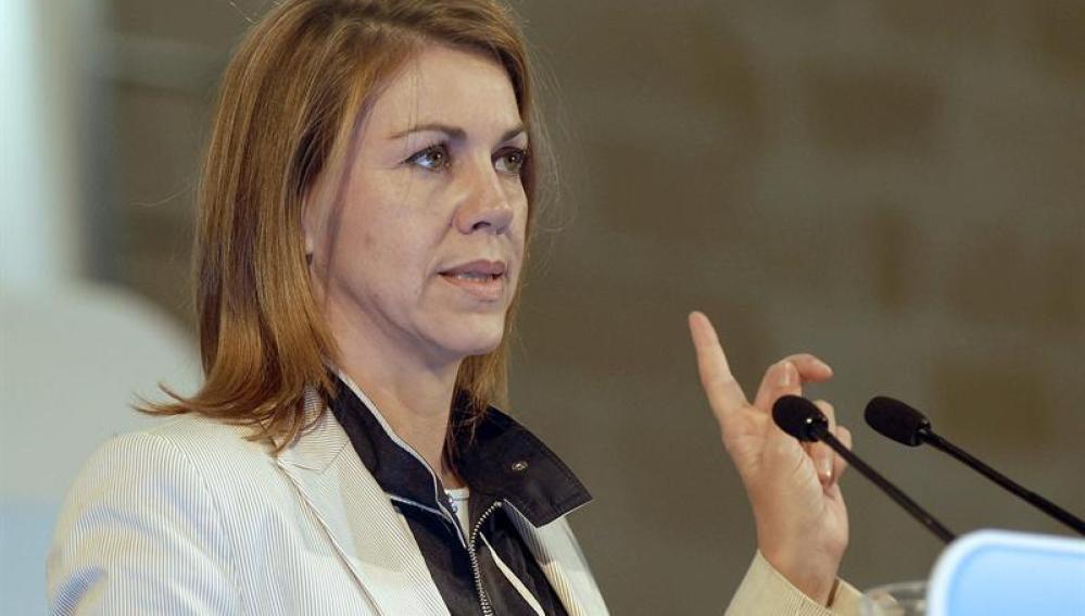 La presidenta de Castilla-La Mancha y secretaria general del Partido Popular, María Dolores de Cospedal