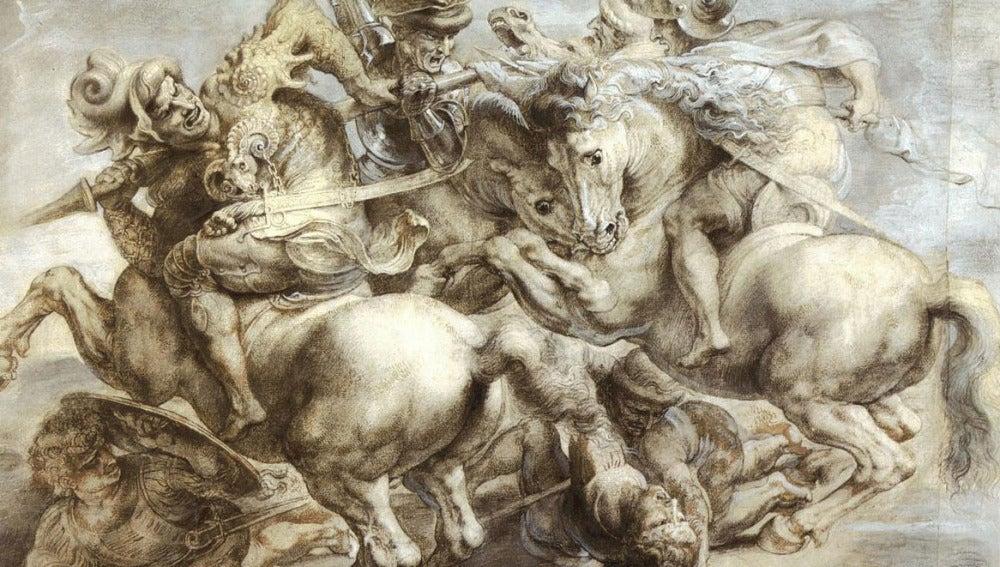 'La batalla de Anghiari', de Rubens, hecha a semejanza del fresco perdido de Da Vinci