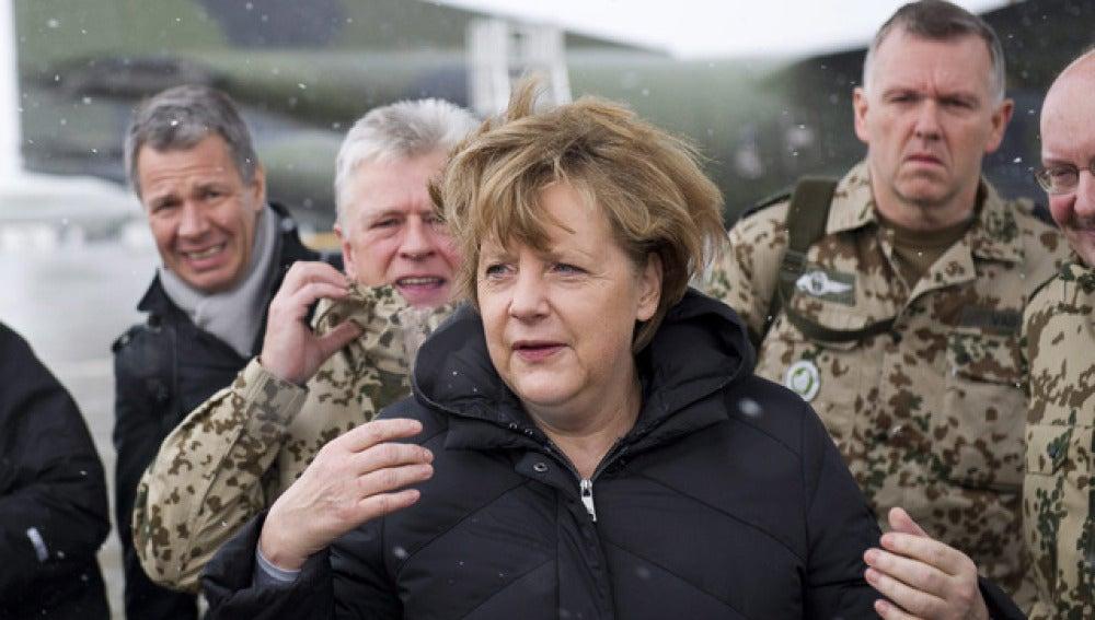 Angela Merkel, en Afganistán