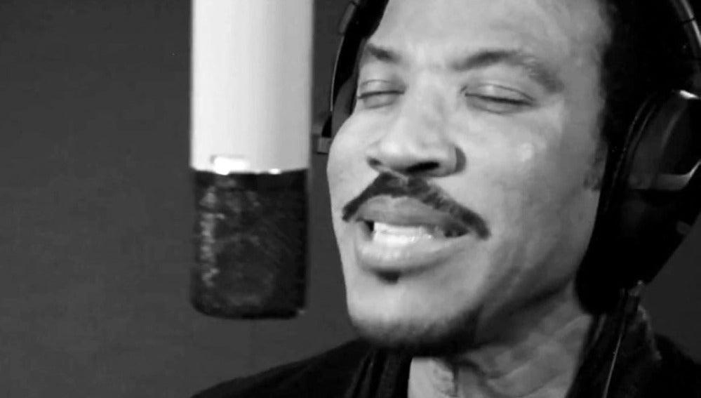 Lionel Richie en el estudio de grabación