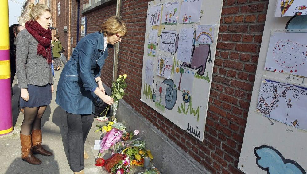 Muestras de condolencia en Bélgica