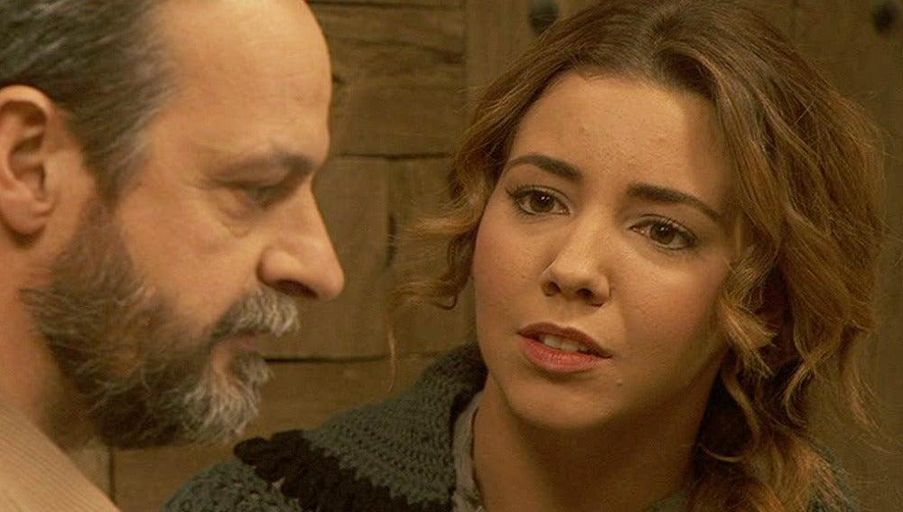 Emilia no reconoce a su padre