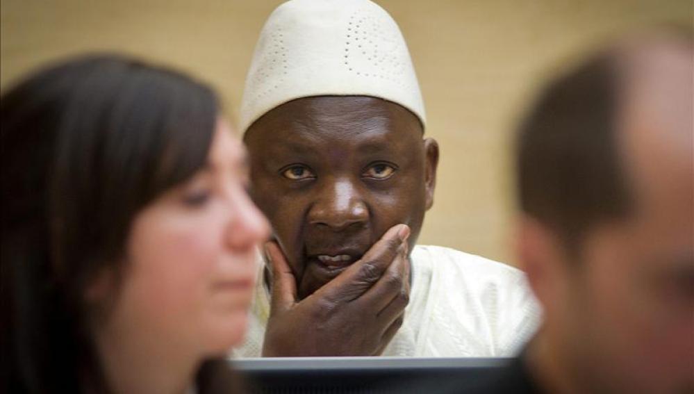 El ex líder rebelde congolés Thomas Lubanga durante su juicio en La Corte Penal Internacional