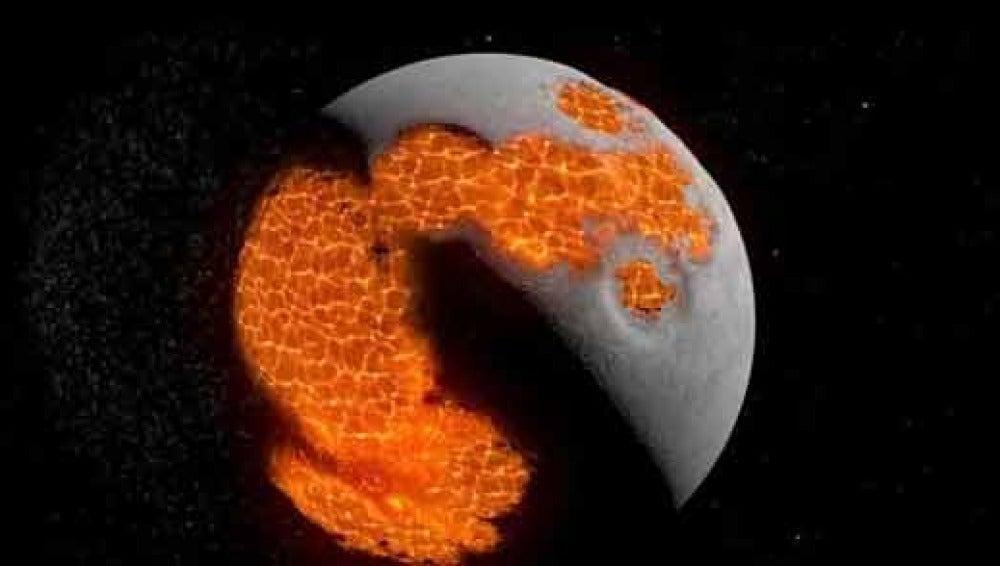 Evolución de la luna