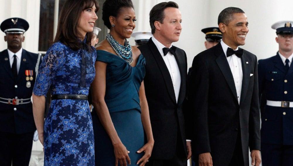 Obama homenajea a Cameron con la mayor cena de gala de su mandato