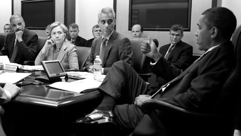 Obama junto a su gabinete