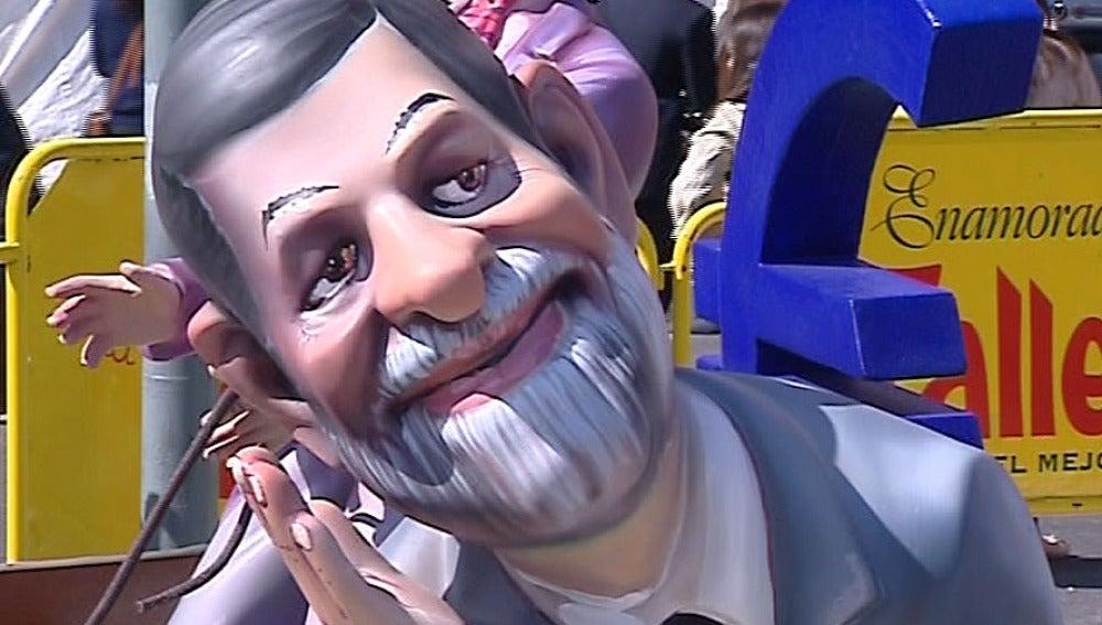 Mariano Rajoy en una falla