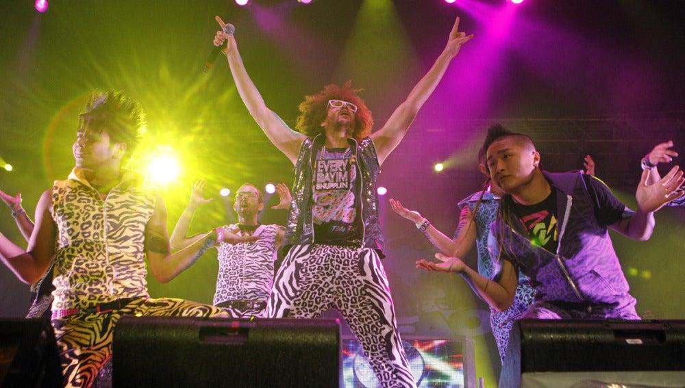 LMFAO durante el concierto en Madrid