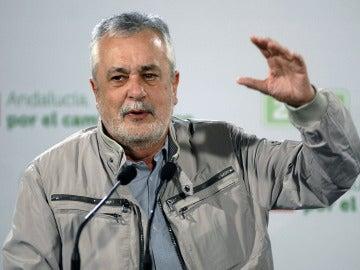 José Antonio Griñán durante un mitin