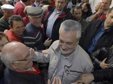 El candidato del PSOE a la Junta, José Antonio Griñán