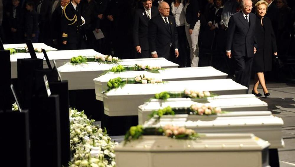 Funeral en Bélgica por las víctimas del accidente de autobús