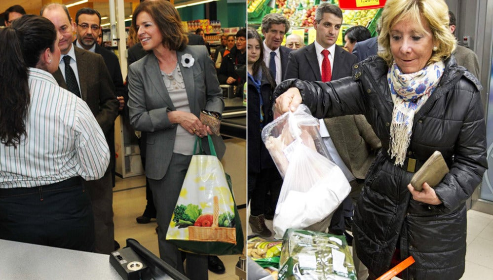 Esperanza Aguirre y Ana Botella inauguran Mercadona en la calle Serrano de Madrid