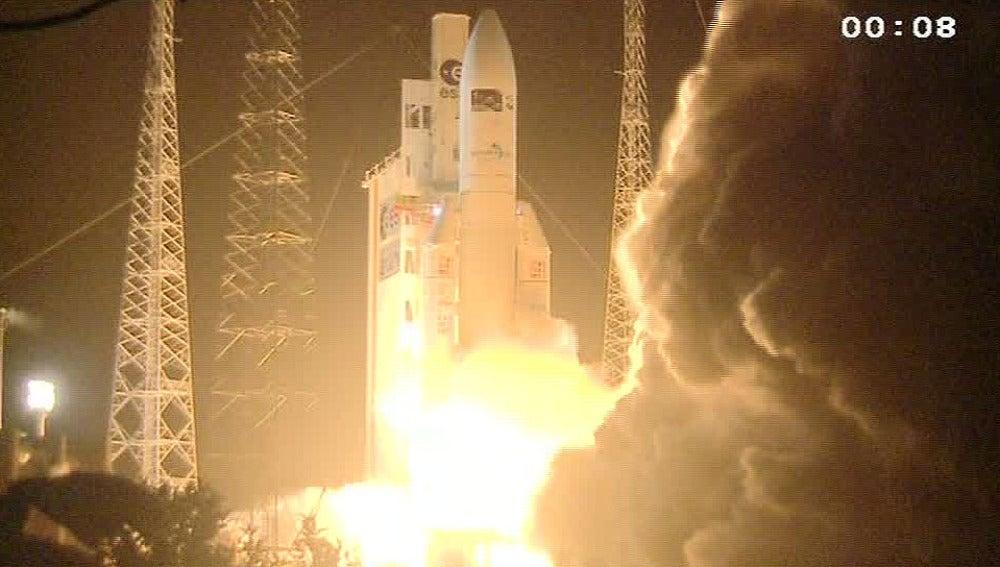 Lanzan la mayor nave espacial de carga