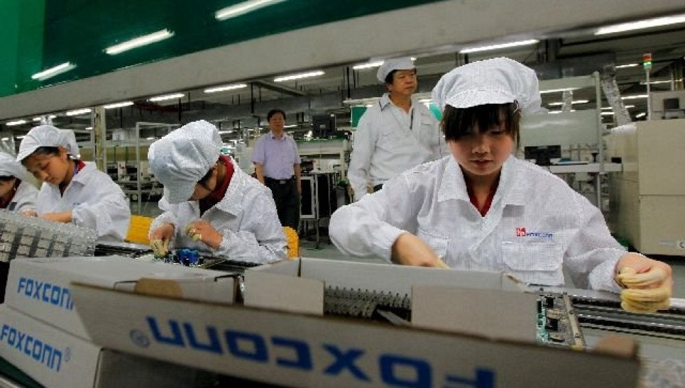 Trabajadores de Apple en China