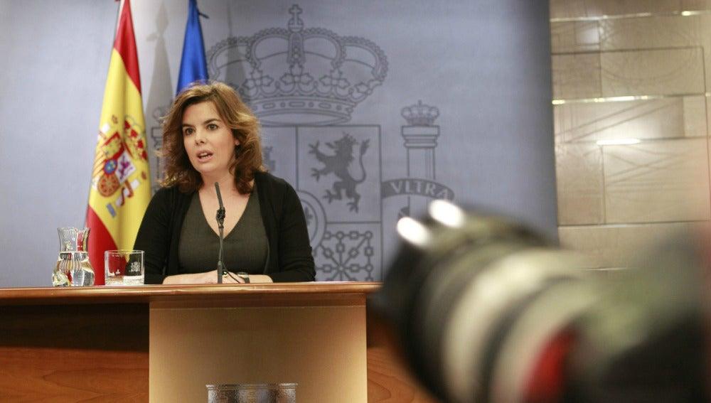 Soraya Sáenz de Santamaría, en el Consejo de Ministros
