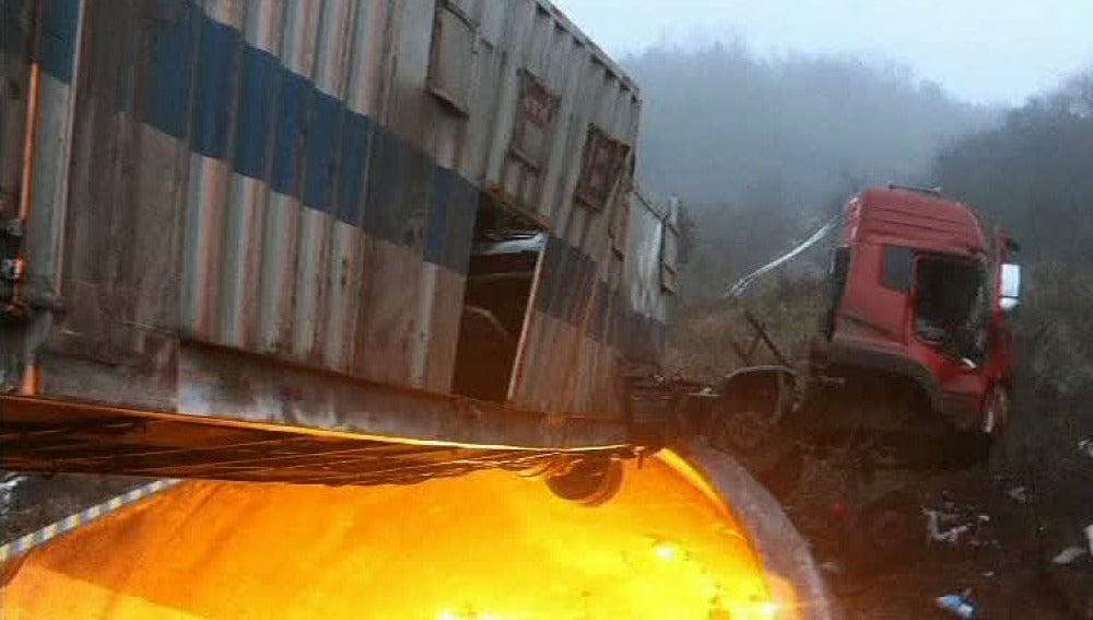 Accidente de camión en China
