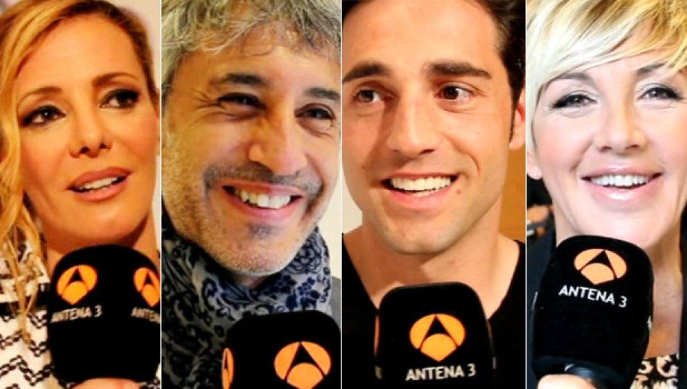 Paula Vázquez, Sergio Dalma, David Bustamante y Ana Torroja