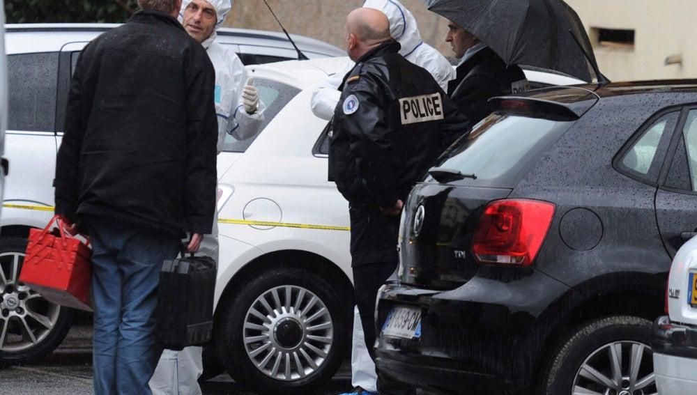 La policía francesa en Tolouse