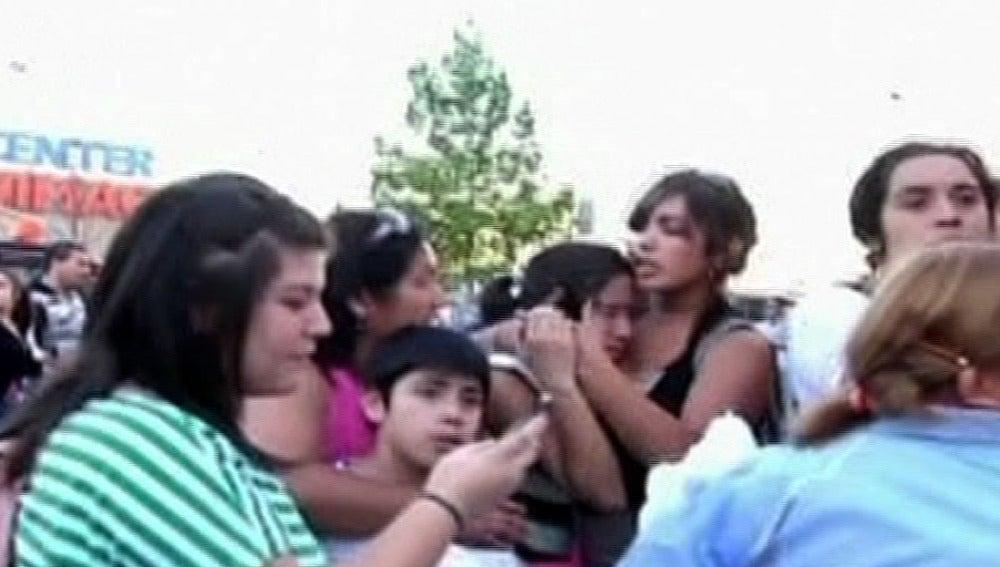 Ciudadanos chilenos asustados tras el seísmo