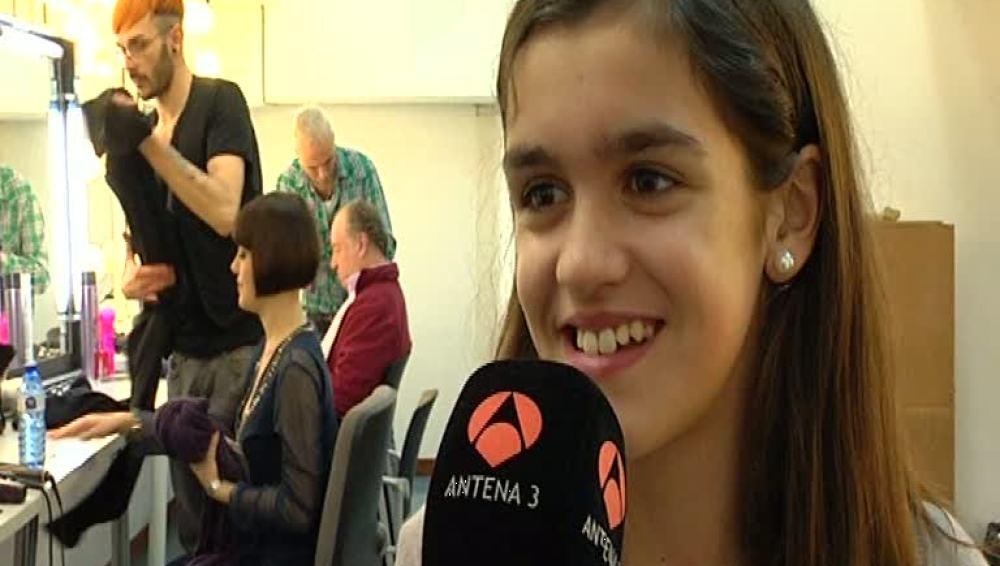 Amaia Romero durante la entrevista