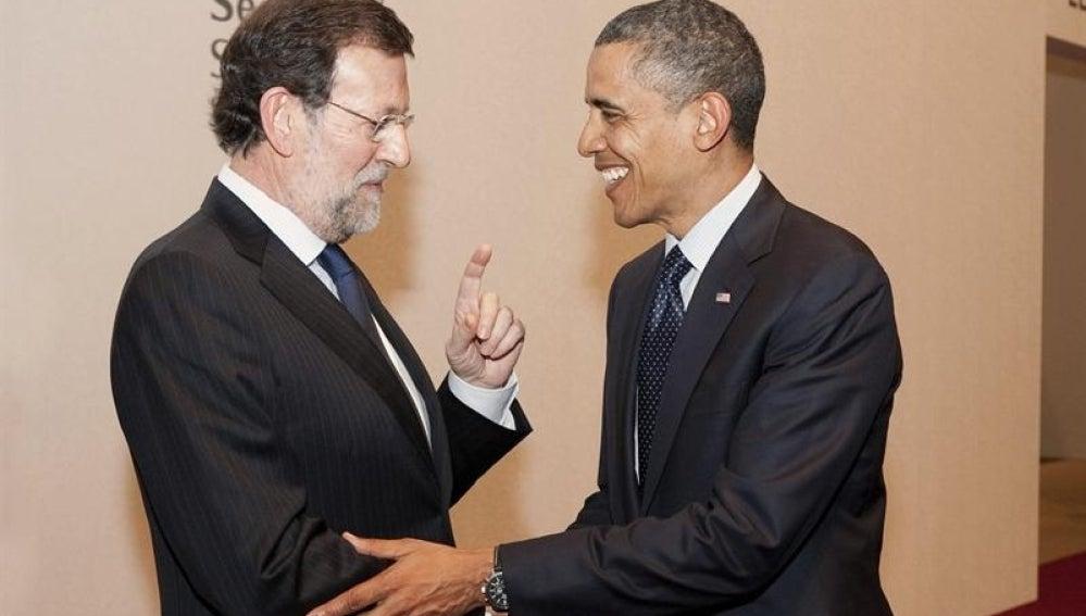 Encuentro entre Rajoy y Obama en Seúl