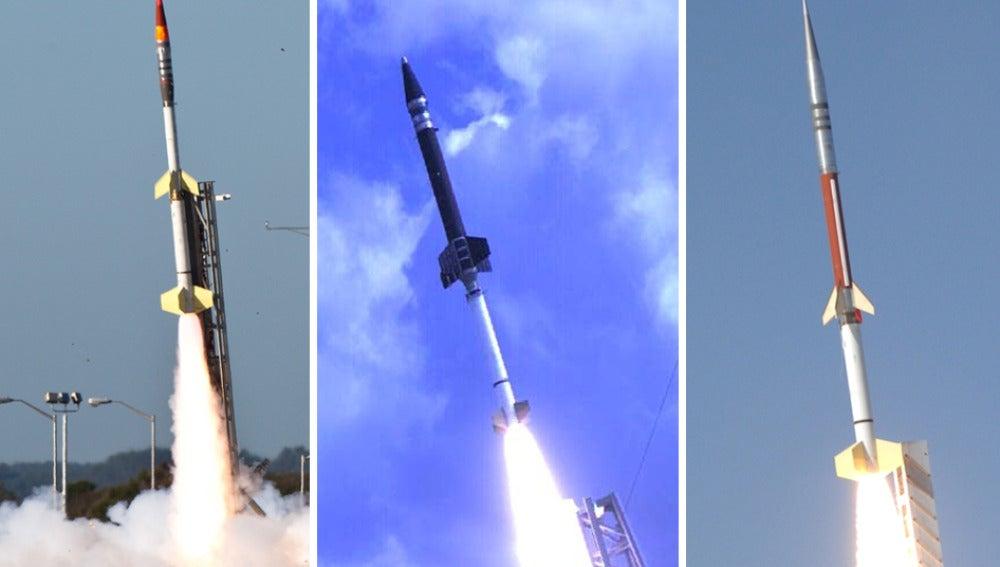 Lanzamiento de cohetes de la NASA