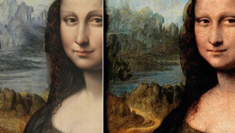 La Gioconda y su copia del Prado