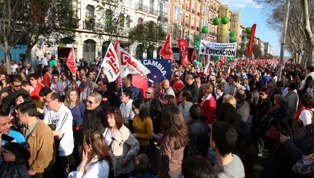 Manifestación Huelga General en Valladolid