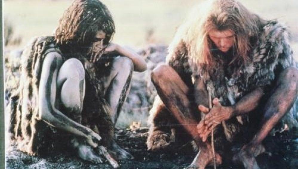 Imágen de la película 'La guerra del fuego'