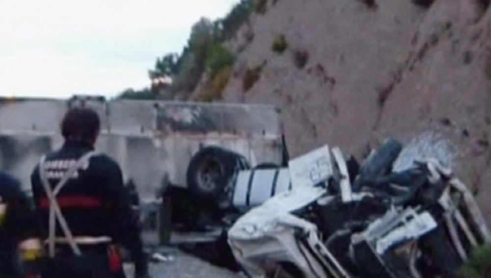Accidente de un camión en la A2
