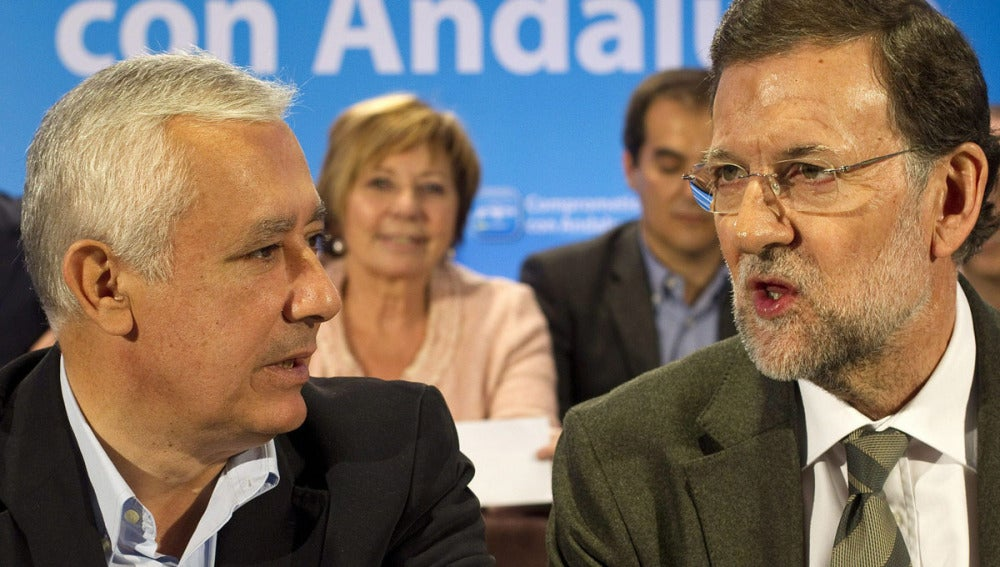 Javier Arenas junto a Mariano Rajoy