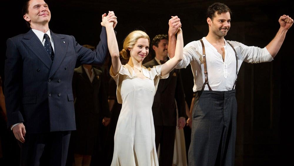 Ricky Martin comparte reparto en Evita con Michael Cerveris y Elena Roger