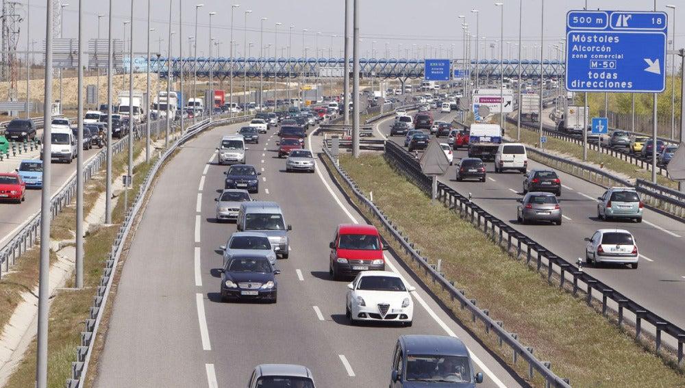 Tráfico en las proximidades de Madrid