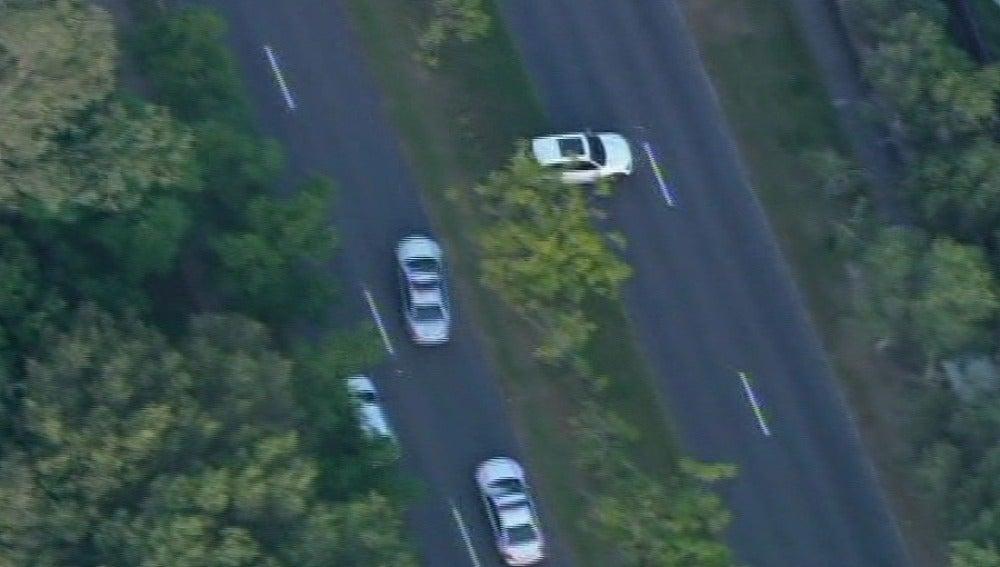 Espectacular persecución de un coche robado en Australia