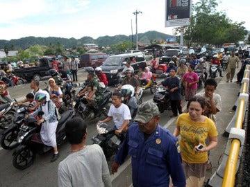 Imagen de la evacuación en Indonesia por el terremoto