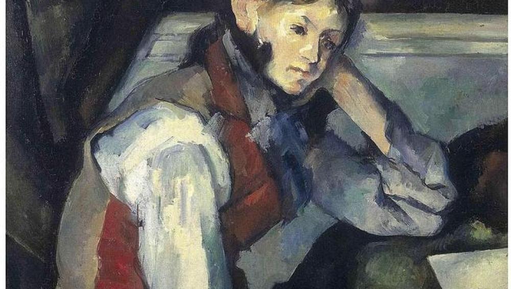 El Chico de Chaleco Rojo de Cezanne