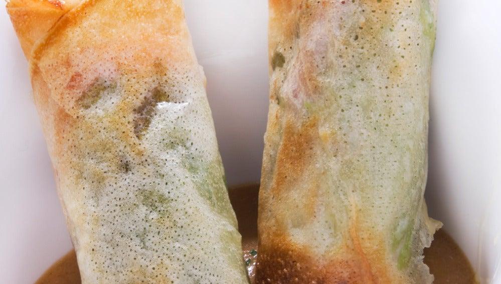 Brick de jamón, queso y espárrago