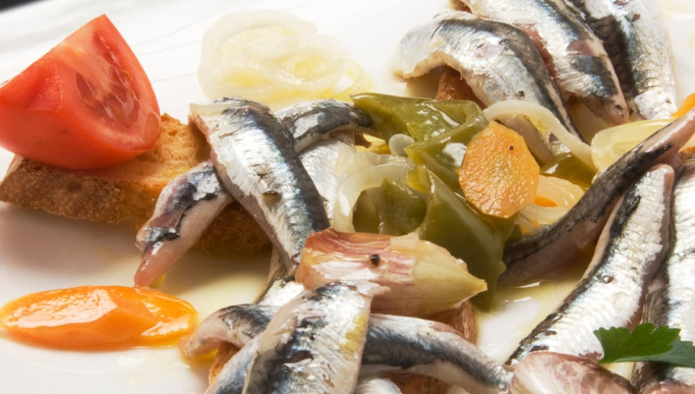 Anchoas en escabeche