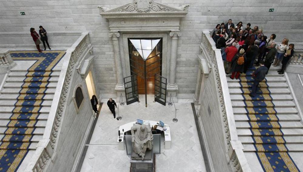 Escalinatas de la Biblioteca Nacional