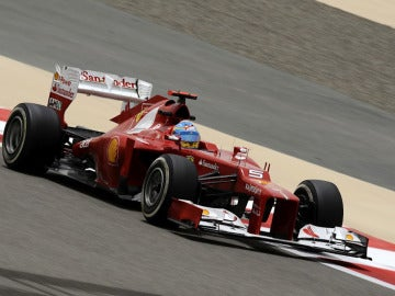 Fernando Alonso en el Ferrari