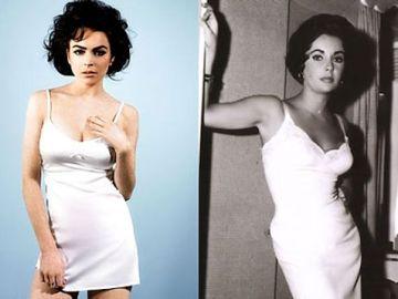 Lindsay Lohan y Elizabeth Taylor