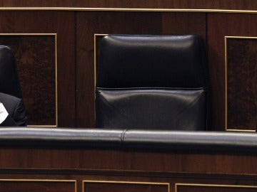 Cristobal Montoro en el Congreso, durante el debate