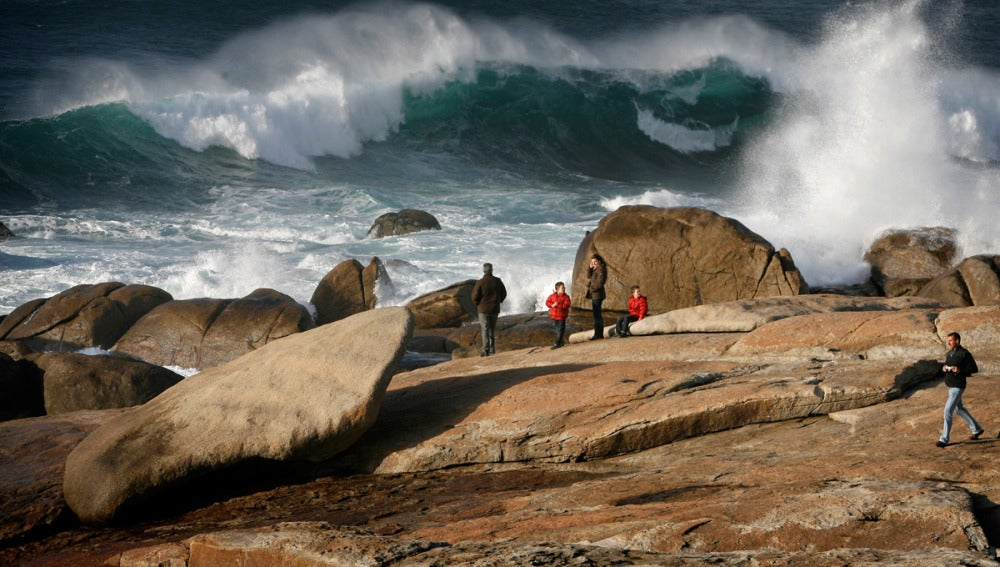 Temporal de viento y lluvia en Galicia